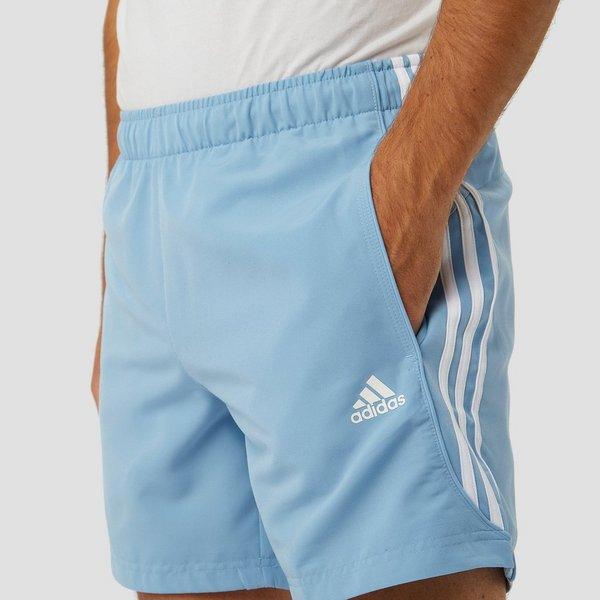Korte Broek Heren Blauw.Adidas Essentials 3 Stripes Chelsea Korte Broek Blauw Heren Aktiesport