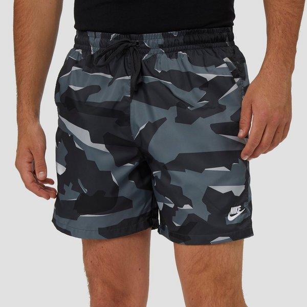 Korte Broek Camouflage Heren.Nike Woven Camouflage Korte Broek Grijs Heren Aktiesport