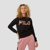 FILA SARA CREW SWEATER ZWART/GOUD DAMES