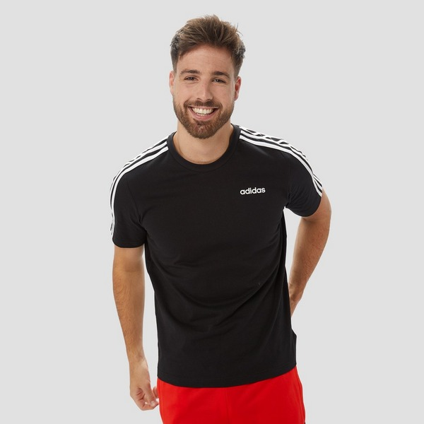 ADIDAS ESSENTIALS 3 STRIPES SHIRT ZWART HEREN | Aktiesport