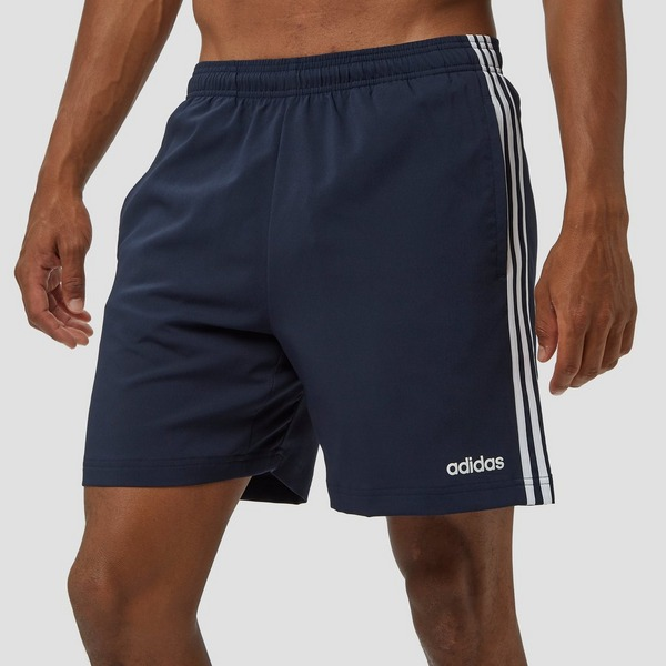 ADIDAS ESSENTIALS 3-STRIPES CHELSEA KORTE BROEK BLAUW HEREN ...