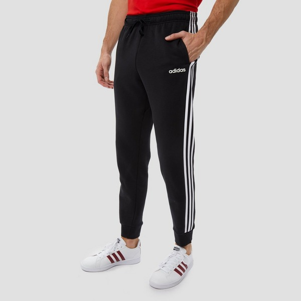ADIDAS ESSENTIALS 3-STRIPES FLEECE JOGGINGBROEK ZWART HEREN