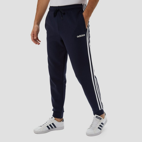 ADIDAS ESSENTIALS 3-STRIPES FLEECE JOGGINGBROEK BLAUW HEREN