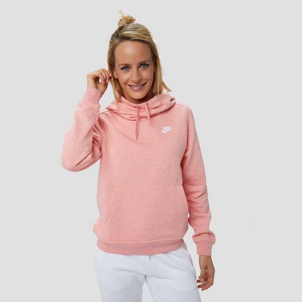 Dames Trui Roze.Nike Sportswear Funnel Fleece Trui Roze Dames Aktiesport