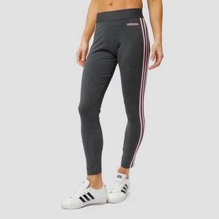 ADIDAS ESSENTIALS 3-STRIPES TIGHT GRIJS/ROZE DAMES | Aktiesport