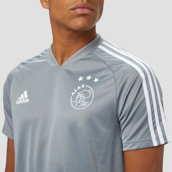 ADIDAS AFC AJAX WARMING-UP TRAININGSSHIRT 19/20 GRIJS HEREN