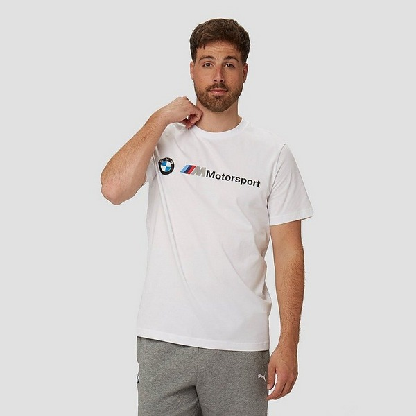 PUMA BMW M MOTORSPORT LOGO SHIRT WIT HEREN