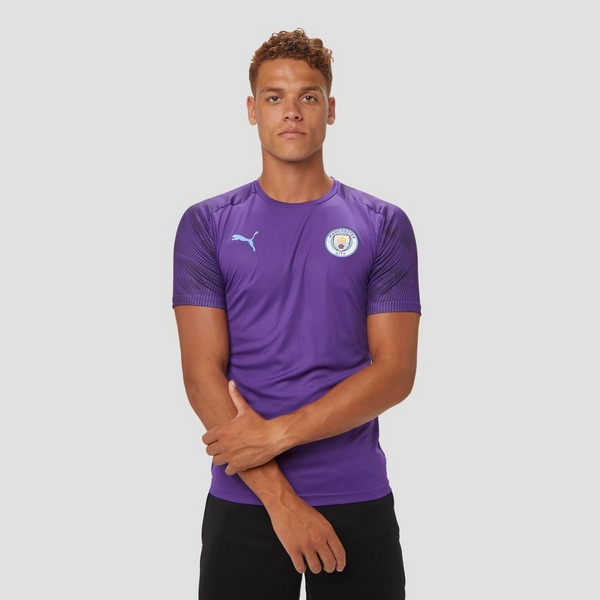 PUMA MANCHESTER CITY FC TRAININGSSHIRT 19/20 PAARS HEREN