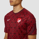 NIKE UEFA EURO 2020 TFF TURKIJE BREATHE PRE-MATCH TRAININGSSHIRT 20/22 ROOD HEREN