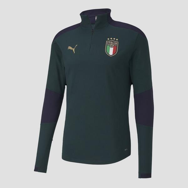 PUMA UEFA EURO 2020 FIGC ITALIE TRAININGSTOP KORTE RITS 20/22 GROEN HEREN