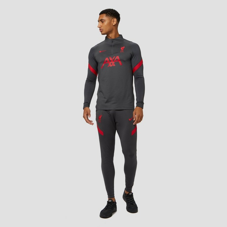 NIKE LIVERPOOL FC DRI-FIT STRIKE DRILL TRAININGSTOP 20/21 GRIJS/ROOD HEREN