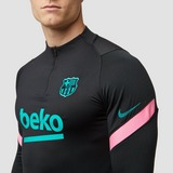 NIKE FC BARCELONA STRIKE DRILL THIRD TRAININGSTOP 20/21 ZWART/ROZE HEREN