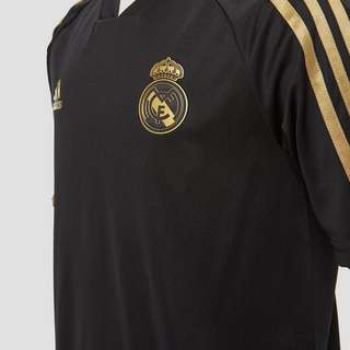 ADIDAS REAL MADRID TRAININGSSHIRT 19/20 ZWART/GOUD KINDEREN