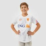 NIKE UEFA EURO 2020/2021 KNVB NEDERLAND DRI-FIT PRE-MATCH TRAININGSSHIRT 20/22 WIT/BLAUW KINDEREN