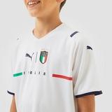 PUMA FIGC ITALIË REPLICA UITSHIRT 21/22 WIT/BLAUW KINDEREN