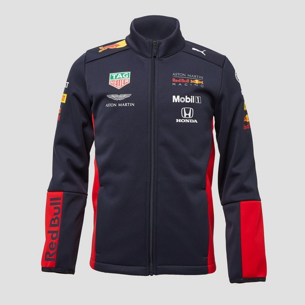 PUMA ASTON MARTIN - RED BULL RACING TEAM SOFTSHELL JAS BLAUW KINDEREN