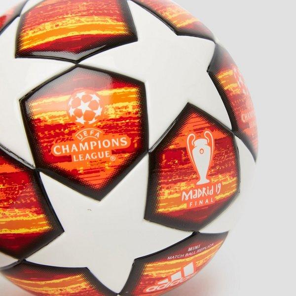 ADIDAS UEFA CHAMPIONS LEAGUE FINALE 19 MADRID MINI VOETBAL ROOD/WIT
