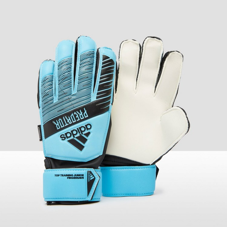 ADIDAS PREDATOR TOP TRAINING FINGERSAVE KEEPERSHANDSCHOENEN BLAUW KINDEREN