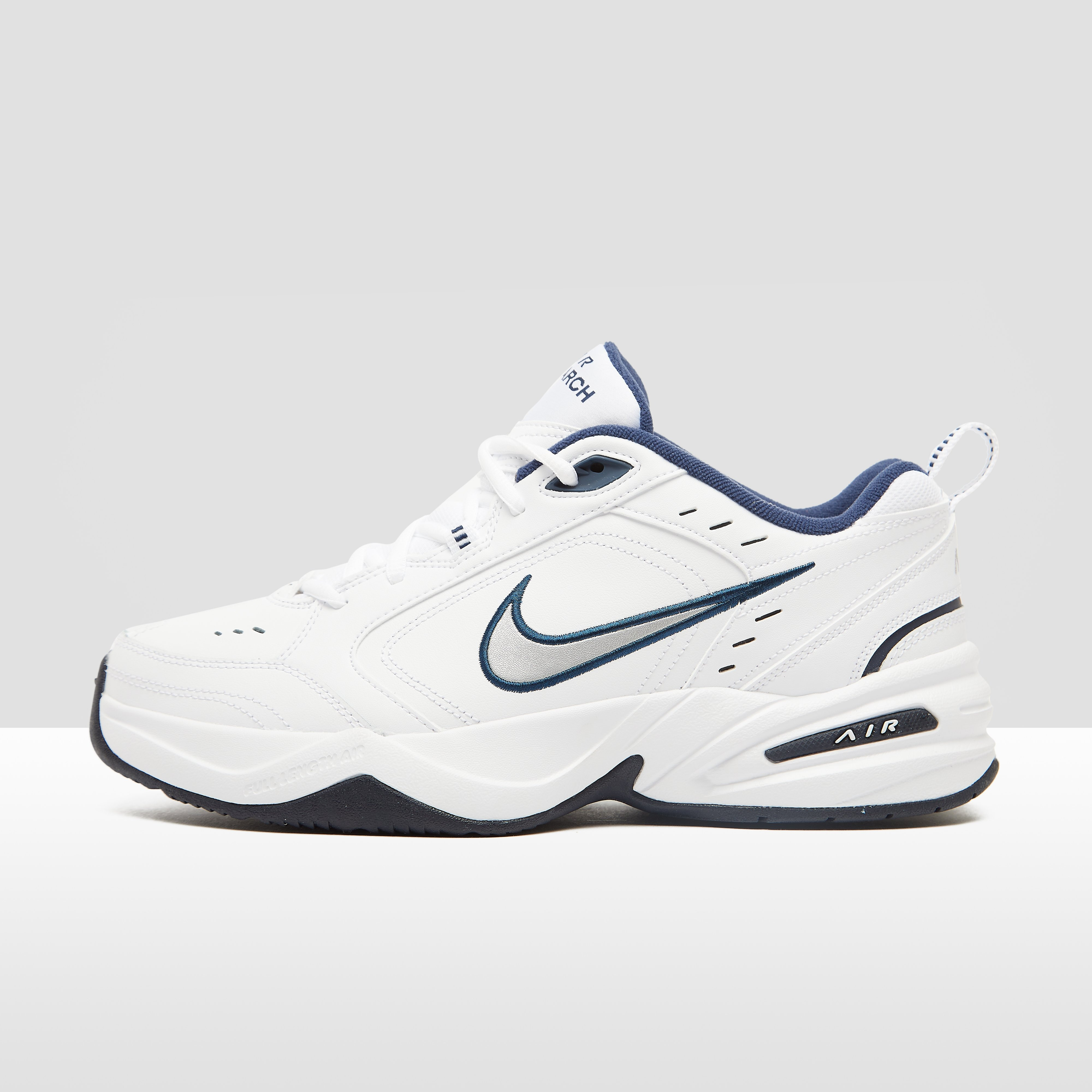 NIKE CHUNKY AIR MONARCH IV SNEAKERS WIT/BLAUW HEREN | Aktiesport