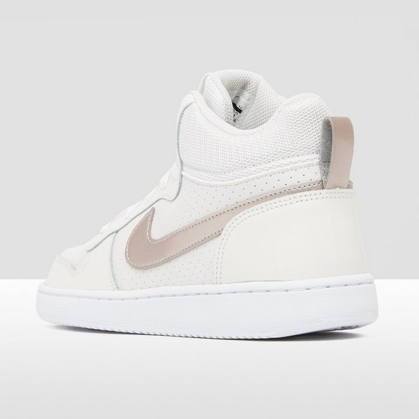 NIKE COURT BOROUGH MID SNEAKERS WIT/GRIJS KINDEREN