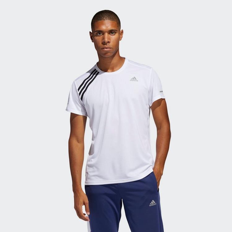 ADIDAS Running 3-Stripes T-shirt