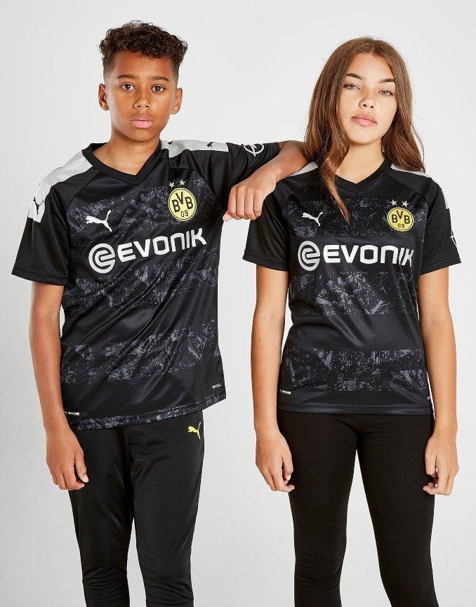 Camiseta de la segunda equipación del Borussia Dortmund para 2019 y 2020