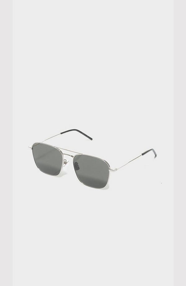 Metal Frame Rect Sunglasses