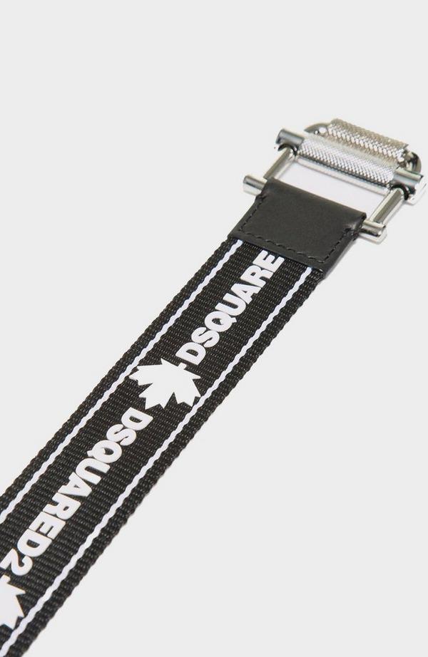 Tape Logo Canvas Belt