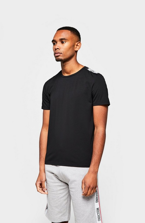 Underwear Black Shoulder Tape Short Sleeve T-Shirt