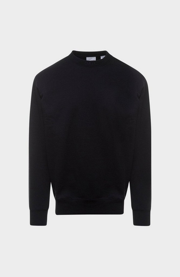 Derib Neck Logo Sweatshirt