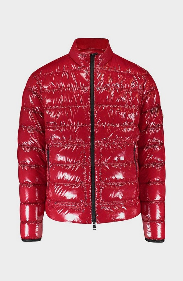 Agar Gloss Quilted Jacket - Red