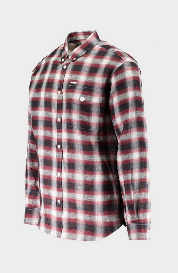Checked Flannel Long Sleeve Shirt