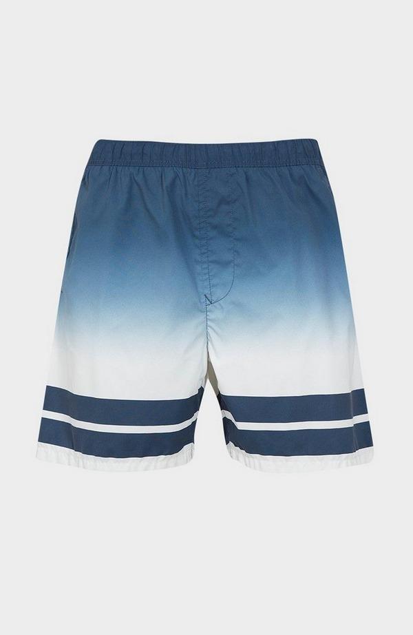 Faded Stripe Swim Short