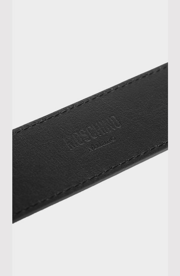 Plaque Logo Leather Belt