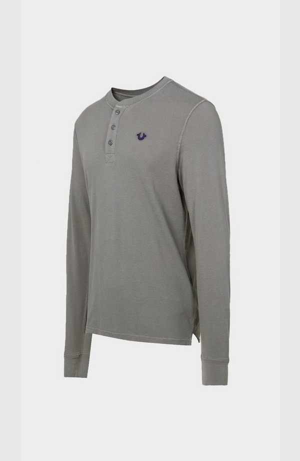 Basic Henley Neck Sweatshirt