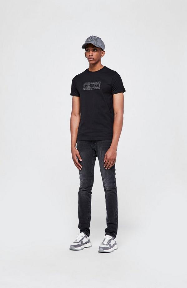 Iconic II Plate Glitter Short Sleeve T-Shirt