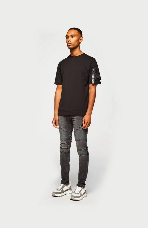 Zip Pocket Arm Short Sleeve T-Shirt