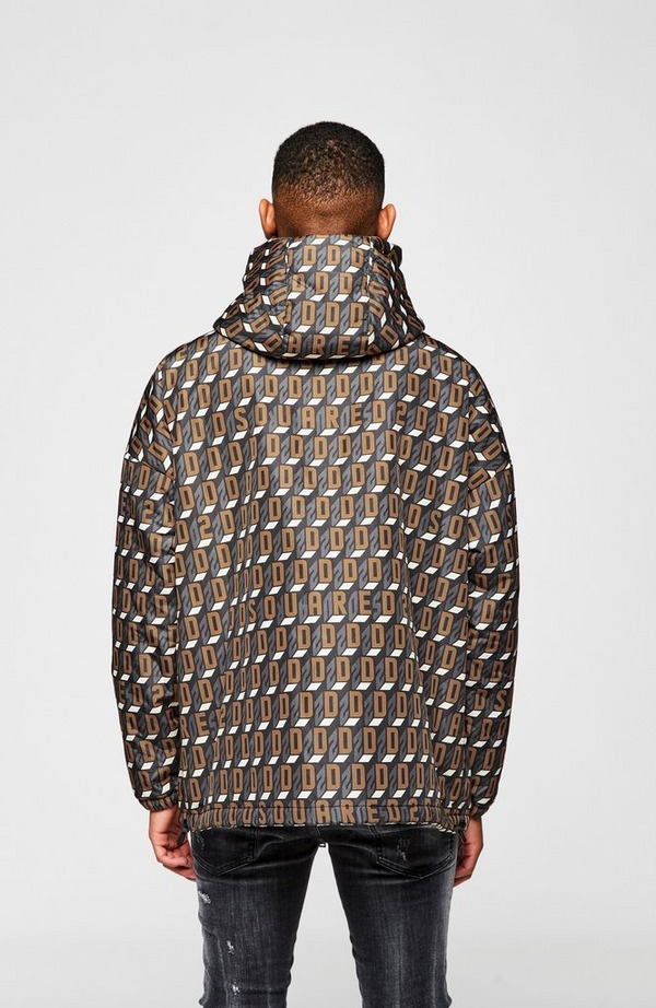 Monogram Logo Hooded Jacket