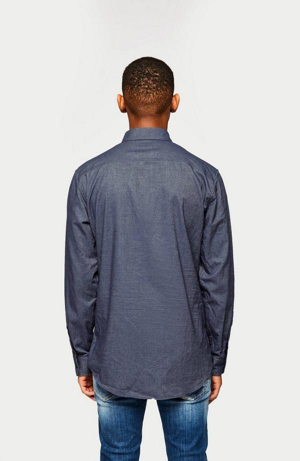 2 Pocket Military Denim Shirt