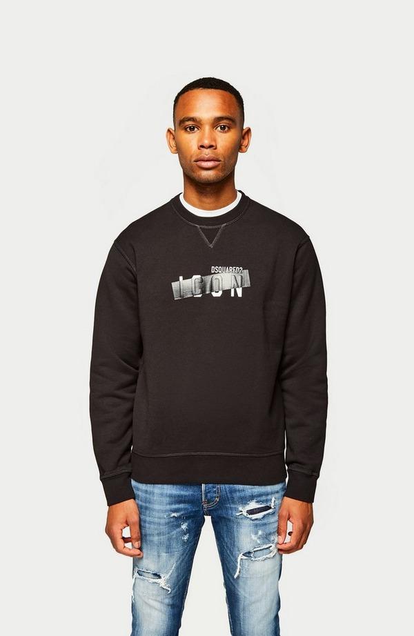 Tape Over Icon Crewneck Sweatshirt