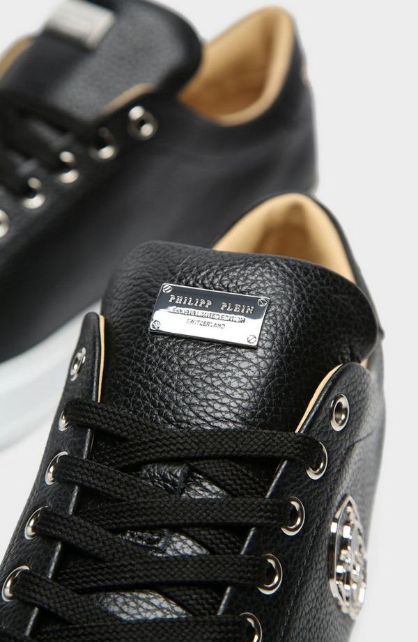 Skull Leather Low Top
