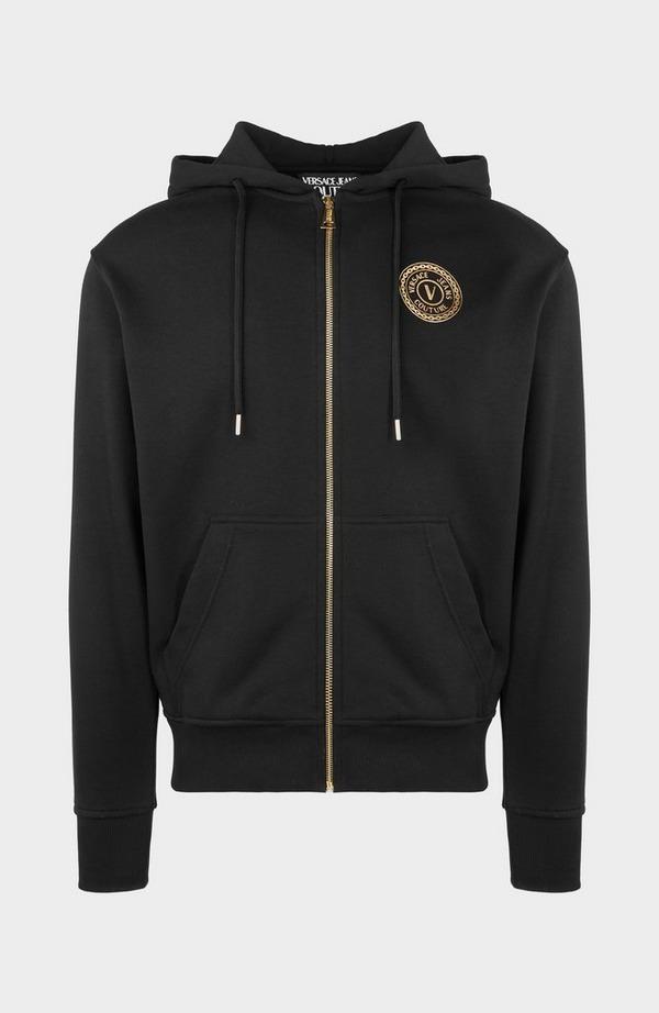 Gold Medallion Zip Hooded Sweatshirt