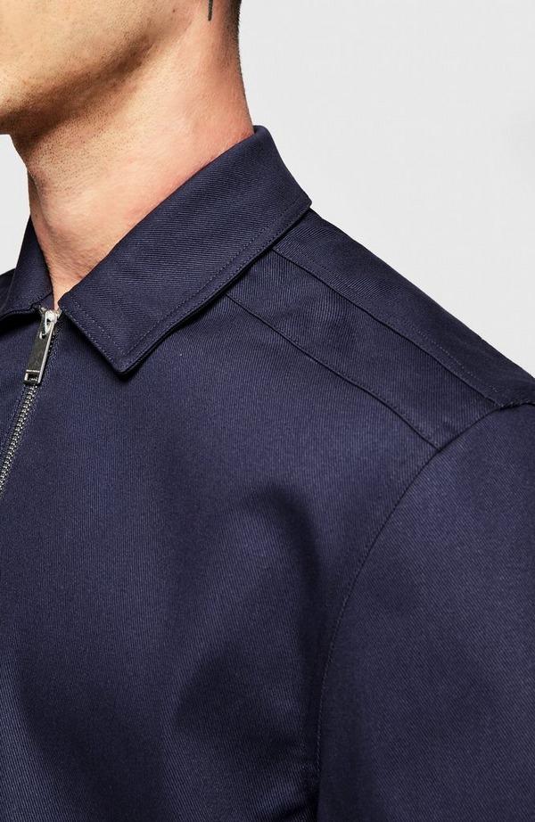 Label Quarter Zip Short Sleeve Shirt