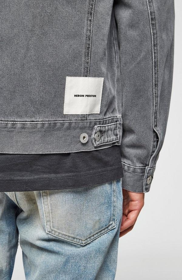 Logo Label Acid Wash Jacket