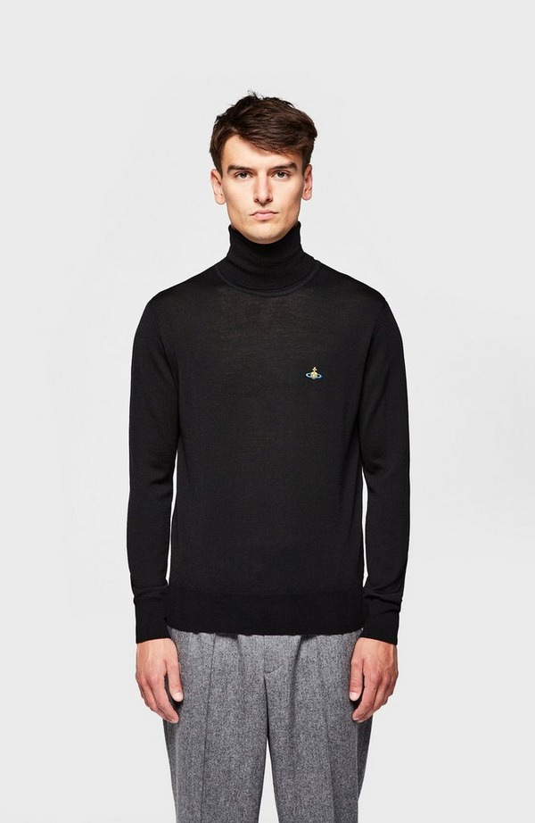 Chest Orb Knitted Roll Neck