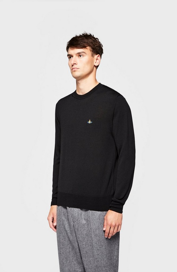 Chest Orb Crew Neck Knitted Jumper