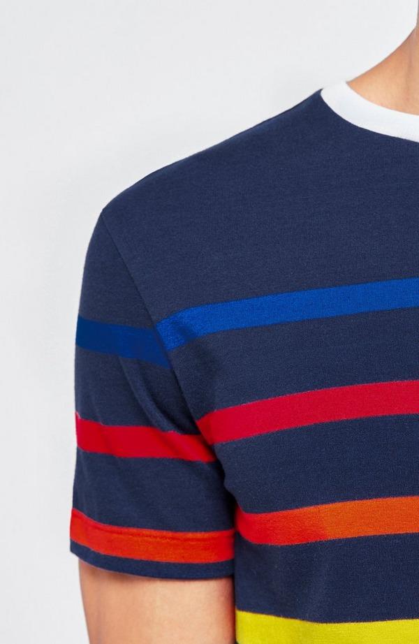 Multicolour Stripe Short Sleeve T-Shirt