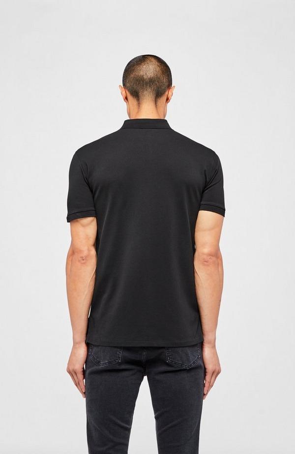 Stretch Mesh Zip Neck Short Sleeve Polo