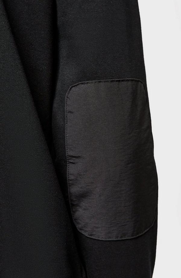 Nylon Hybrid Zip Hooded Sweatshirt
