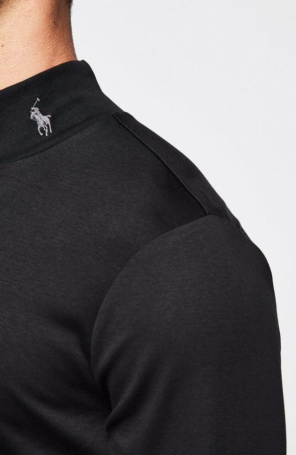 Mock Neck Logo Long Sleeve T-Shirt